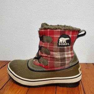 Sorel Plaid Tivoli Waterproof Boots fleece lined